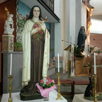 Statua Santa Teresina del Volto Santo e del Bambin Gesù