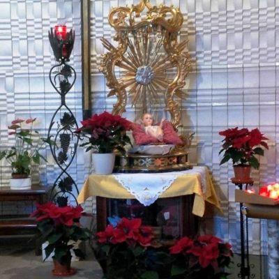 Trono Gesù Bambino Natale 2017