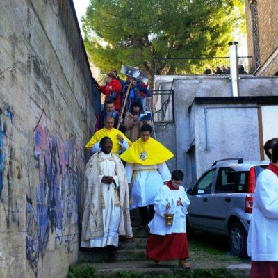 Processione per benedizione trattori e animali